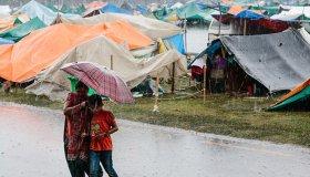 lluvia refugiados